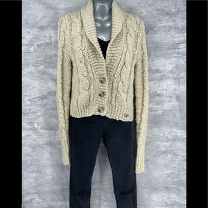 Gilly Hicks Collared Thick Cardigan Sweater Large